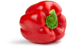Red bell pepper. On white background Royalty Free Stock Image