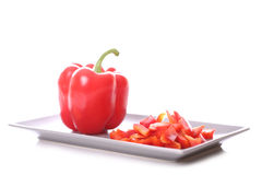 Red bell pepper. On white background Royalty Free Stock Photo