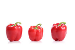 Red bell pepper. On white background Stock Image