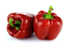Red Bell Pepper on a white Royalty Free Stock Images