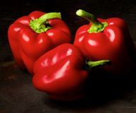 Red Bell Peppers Royalty Free Stock Photography