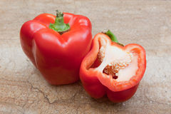 Red bell peppers Royalty Free Stock Images