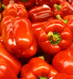 Red Bell Peppers. Colorful background made up of pile of red bell peppers stock photos