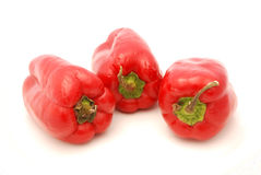 Red bell peppers Stock Image