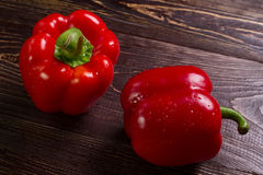 Red bell peppers. Royalty Free Stock Photos