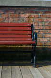 Red bench royalty free stock image