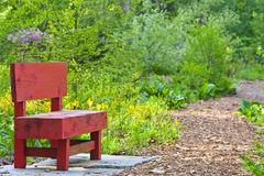 Red Bench Royalty Free Stock Images