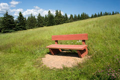 Red Bench Royalty Free Stock Photo