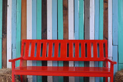 A red bench Royalty Free Stock Photo