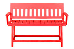 Red bench isolated. Stock Photo