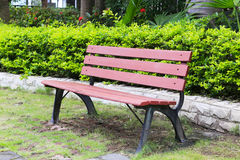 Red bench Stock Photo