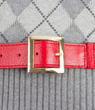 Red bent on the jacket Royalty Free Stock Photo