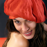 Red beret Royalty Free Stock Photos