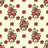 Red berries on the branches seamless pattern background Royalty Free Stock Photo