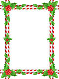 Red berries christmas border. Candy cane/ Red berries christmas border royalty free illustration