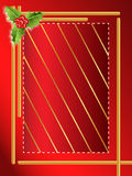 Red berries christmas border Stock Images