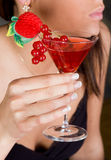 Red berries in a cocktail Royalty Free Stock Photo