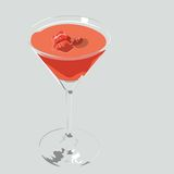 Red berries cocktail vector Stock Photography