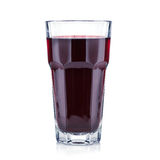 Red berries fresh and healthy juice in a tall glass Royalty Free Stock Image