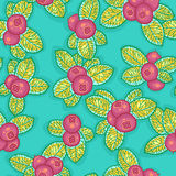 Red berries pattern Royalty Free Stock Photos