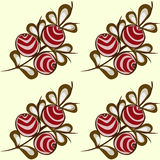 Red berries seamless pattern background Stock Images