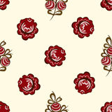 Red berries seamless pattern background Royalty Free Stock Images