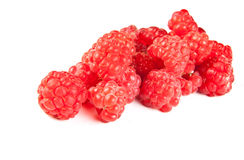 Red berry. Ripe, fresh, sweet, red berry raspberry on a white background Royalty Free Stock Photos