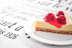 Red berry cheese cake Stock Images