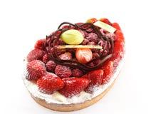 Red berry fruit flan Stock Photos