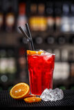 Red berry fruit soda drink Royalty Free Stock Photo