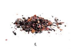 Red berry herbal tea (tisane) with rooibos - isolated. Heap of red berry herbal tea (tisane) with rooibos - isolated Royalty Free Stock Photography