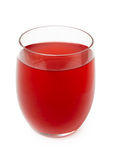 Red berry juice in glass Stock Photography