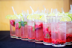 Red Berry Mocktail. Red berry non alcoholic mocktail drink Stock Image