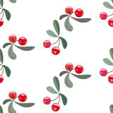 Red berry pattern Stock Images