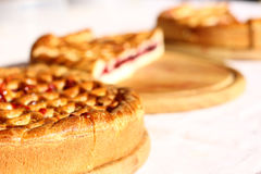 Red berry pies tart cake sweet baked Royalty Free Stock Images