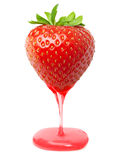 Red berry strawberry with caramel Stock Photo