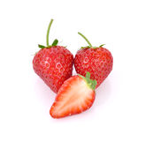 Red berry strawberry isolated on white background. Red berry strawberry isolated on white Stock Photography
