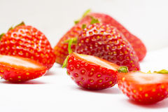 Red berry strawberry isolated on white background Stock Photography