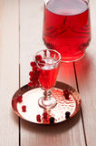 Red berry wine or liquor Royalty Free Stock Image