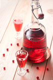Red berry wine or liquor Stock Photography