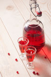 Red berry wine or liquor Royalty Free Stock Photo
