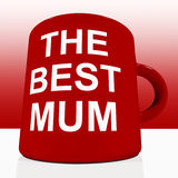 Red Best Mum Mug On Table Showing A Loving Mother Royalty Free Stock Photo