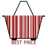 Red Best Price BARCODE Stock Photos