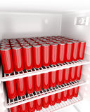 Red beverage cans Royalty Free Stock Image
