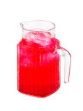 Red beverage drink isolated Royalty Free Stock Photo