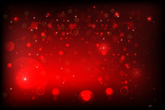 Red BG with bokeh Royalty Free Stock Image