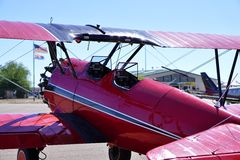 Red Bi-Plane Royalty Free Stock Images