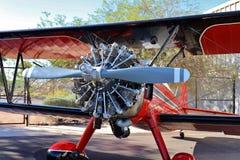 Red Bi-Plane Stock Photo
