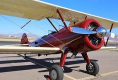Red Bi-Plane Stock Image