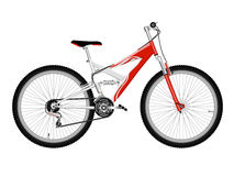 Red bicycle vector illustration